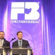 Farm Bureau President Frank Burkett III and Executive Vice President Adam Sharp addressed the delegates at the event.