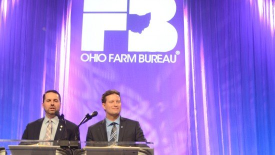 Farm Bureau President Frank Burkett III and Executive Vice President Adam Sharp addressed the delegates at the event.