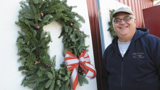 The Block O wreath has been a popular, and unique, seller for the DiVencenzo Family Tree Farm in Lorain County.
