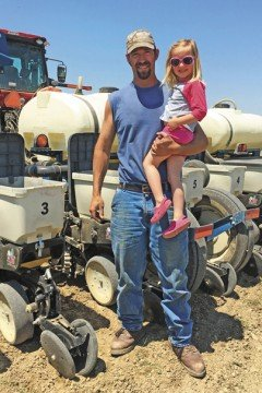 Mitchell Stammen farms full time and health insurance was extremely costly for his family. Photo provided by Michelle Stammen.