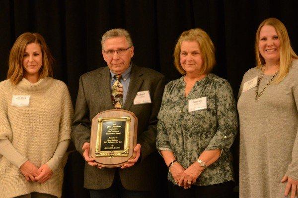 Industry Excellence Award winner Bob Boliantz of E.R. Boliantz Co. packing company in Ashland.