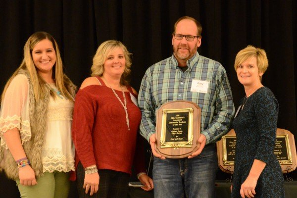 Commercial Producer of the Year Gary Gerber and family from Butler County