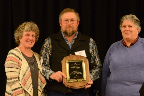 Seedstock Producer of the Year winners Jeff and Lou Ellen Harr of J&L Cattle Services of Ashland County
