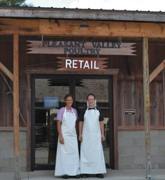 The facility is a source of local jobs within the Amish community, including for Emma and Leanna Troyer.