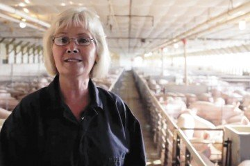 Connie has participated in videos and other methods of reaching out to consumers about pork. Photo provided by the Ohio Pork Council.