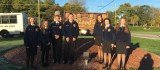 Members of the Ohio Hi-Point satellite middle school FFA chapter located at Graham Middle School. Their advisor, Ms. Emily Burns, is in her first year as an agricultural educator and FFA advisor. The Chapter participates in events such as creed speaking, general livestock judging and community service projects. Photo provided by Emily Burns.