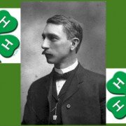 Albert Belmont Graham, known as the founder of 4-H, was born March 13, 1868.