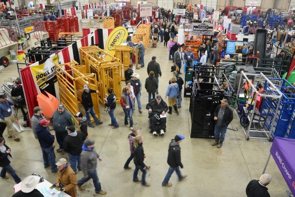 The trade show was very busy throughout the event.