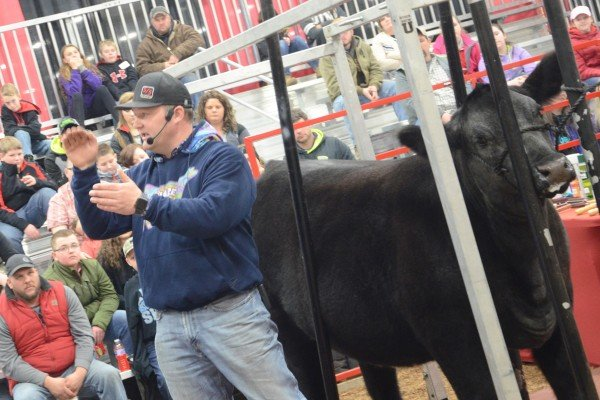 Wes Richey gave a fitting demonstration with Stock Show U.
