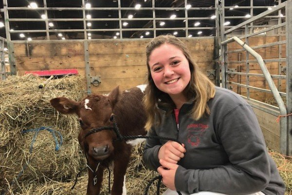Deanna Langenkamp is from Darke County with the Buckeye Dairy Club.