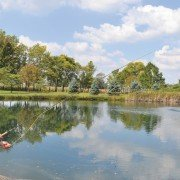 Jim Reber is a nature enthusiast and avid fisherman who has nurtured his pond into the perfect swimming and fishing hole near Lima.