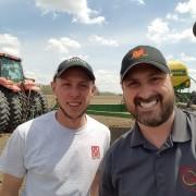 """Ty met Owen Niese in Crawford County as he was """"chasing dust"""" during the 2018 planting season"""