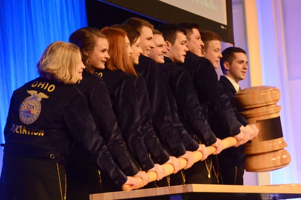 The state officers open up the 2018 State Convention.