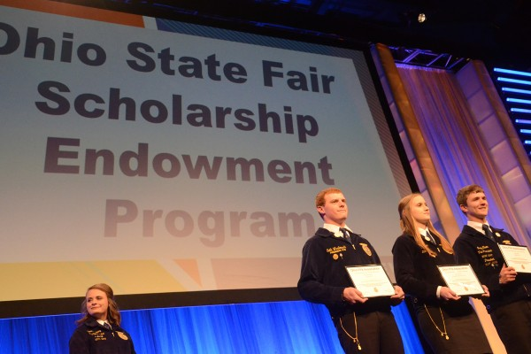 Troy Elwer, Sarah Lehner, Seth Wasilewski received Ohio State Fair Endowment scholarships