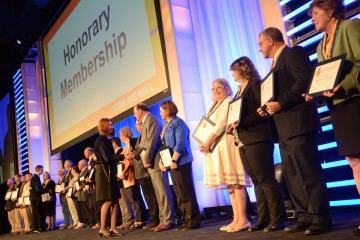 Honorary members were recognized in th second session.