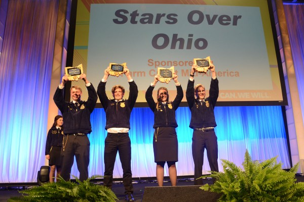 Star in Agricultural Placement Aaron Hand, Wynford; Star in AgriBusiness Carson Eyre, Western Brown; Star in AgriScience Erin Jennings, Felicity Franklin; Star Farmer Todd Peterson, Miami Trace;
