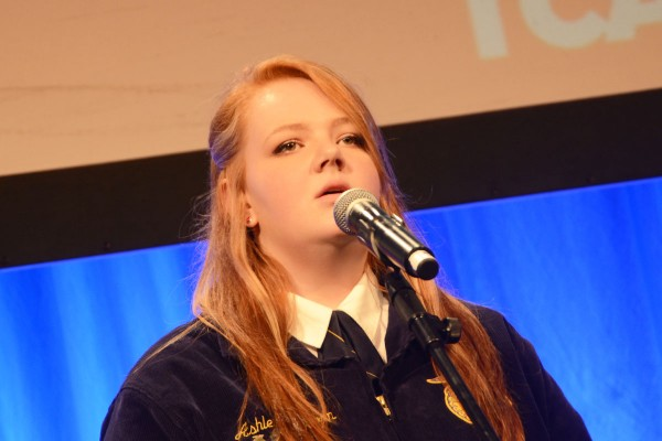 Ashleigh Osborn with the Blanchester FFA entertains the crowd.