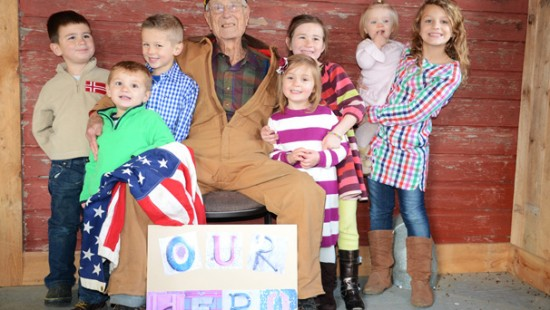 Grandpa Frank Deeds with some of his great grandchildren