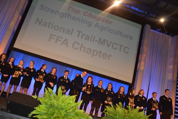 Top Chapters were recognized in Session Three. The top Growing Leaders Chapter was Versailles. The Top Building Communities Chapter was Covington UVCC. The top Strengthening Agriculture was National Trail MVCTC.