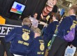 East Knox FFA members talk beef at the trade show.
