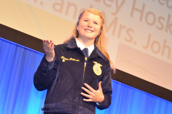 Morgan Anderson from Amanda-Clearcreek won the Creed Speaking Contest.