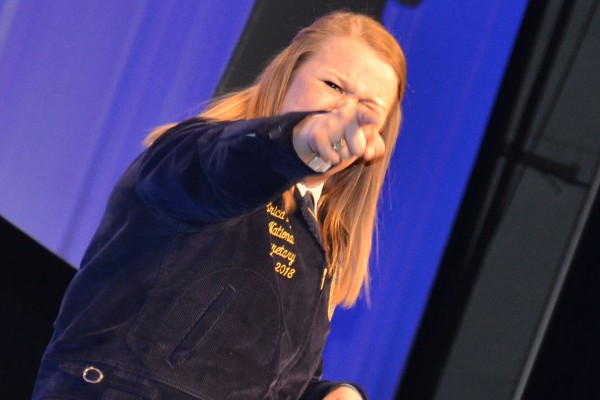 National Officer Erica Baier had an energetic presentation.