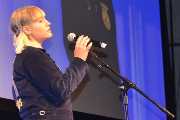 Macey Butchco, Firelands FFA performed in the fifth session