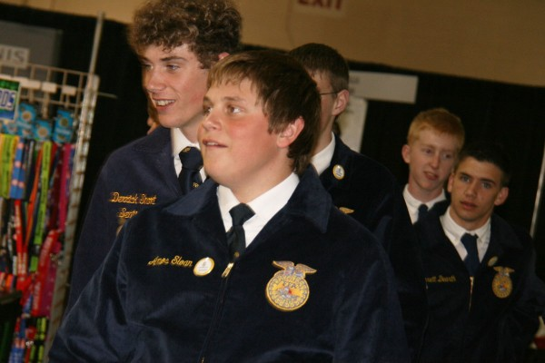 FFA students checking out the trade show
