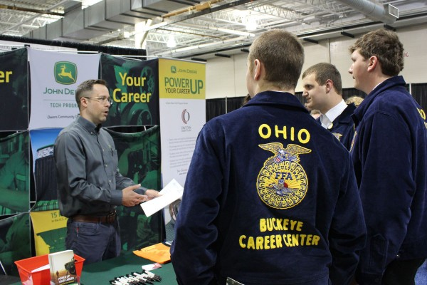 Members from the Buckeye Career Center learning a lot from the John Deere booth